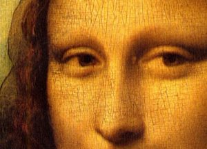 Crackling or 'aligator skin' wear to the Mona Lisa