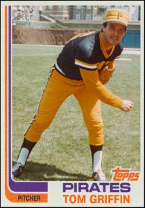 Tom Griffin 1982 Topps