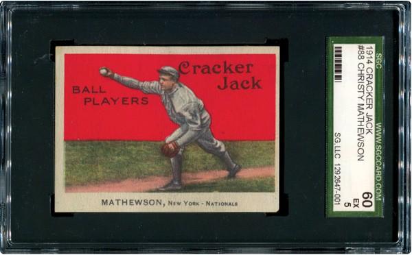 Christy Mathewson 1914 Cracker Jack SGC 60