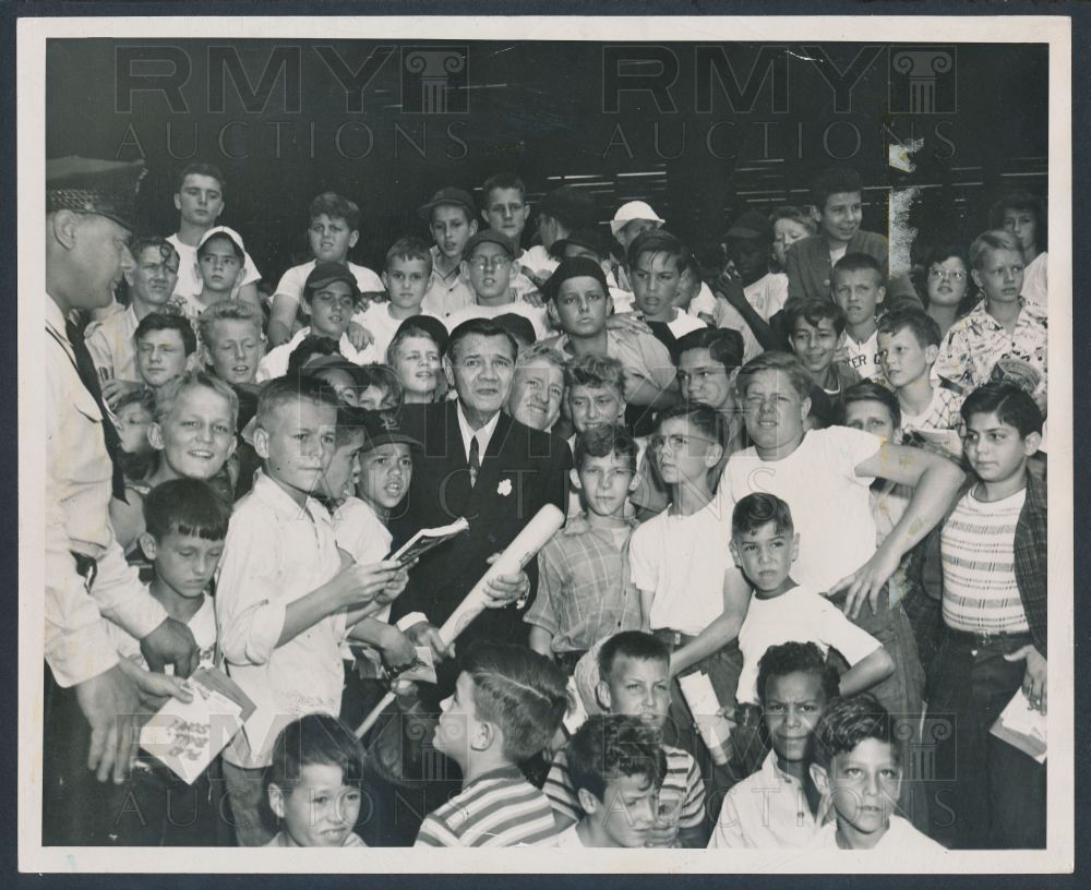 Children with Babe Ruth