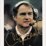 Chuck Noll Steelers autographed police issue card