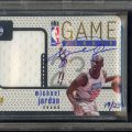 Michael Jordan autographed 1997-98 Upper Deck Game Jersey card