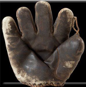 Game used Herb Pennock glove 1927 World Series