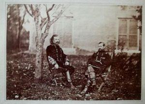 Union Generals George Custer and Alfred Pleasonton in Warrenton Virginia, October 9 1863.