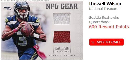 Panini Rewards Russell Wilson