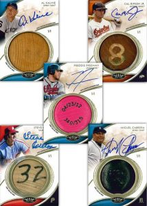 Bat knob cards 2014 Topps Tier One