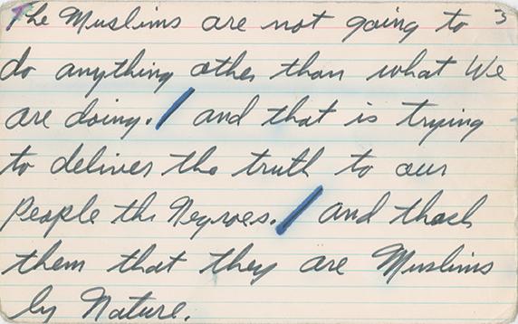 Speech notes Muhammad Ali