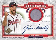 2014 Topps Update World Series Heroes Relic John Smoltz