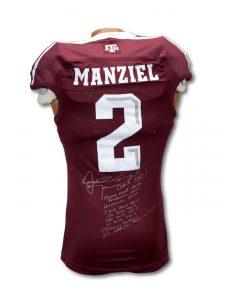 Game worn Johnny Manziel Texas AM jersey
