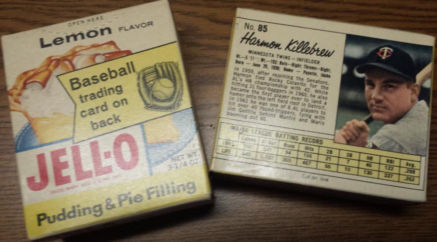 1962 Jello baseball cards unopened box