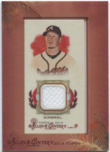 Allen Ginter Craig Kimbrel framed mini relic