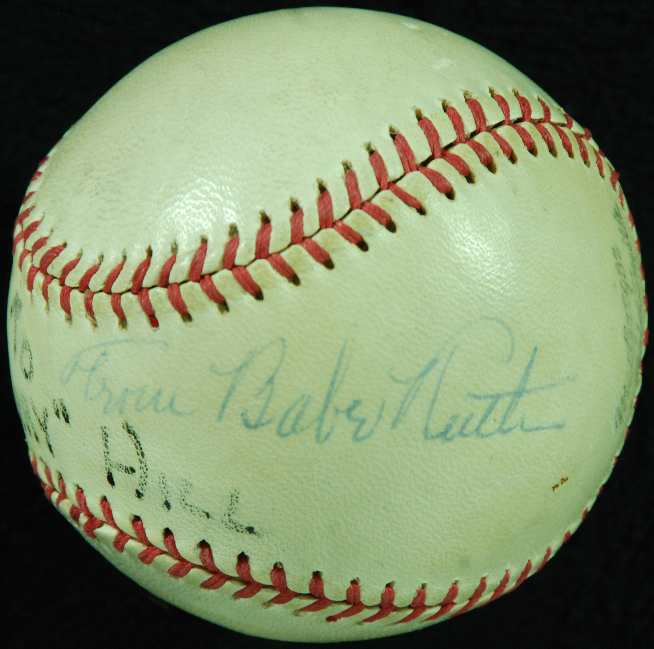 Babe Ruth signed ball Collect Auctions