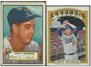 1952 1972 Hoyt Wilhelm cards