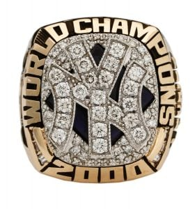 Yankees 2000 World Series ring Jim Leyritz