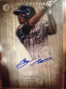 2014 Bowman Inception Baseball Byron Buxton autograph