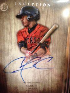 2014 Bowman Inception Carlos Correia autograph