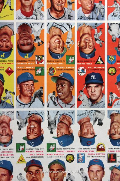Topps 1954 uncut sheet