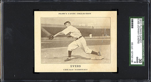 Johnny Evers 1912 Plows Candy