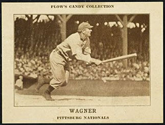 Honus Wagner Plows Candy card 1912