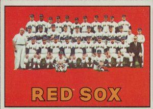 1967 Topps RedSox team