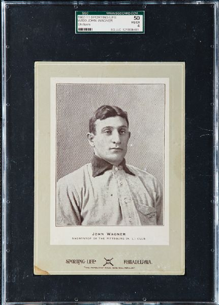 Honus Wagner 1905 Cabinet Card The Sporting Life