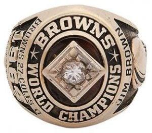 Jim Brown 1964 NFL championship ring