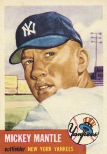 The original art for many baseball card issues, including 1953 Topps, were paintings.