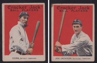 Ty Cobb Joe Jackson 1915 Cracker Jack