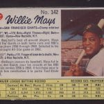 Willie Mays 1962 Post Canadian