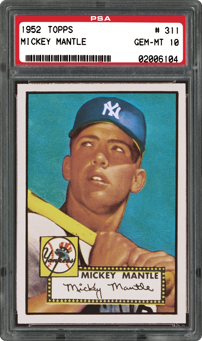 PSA 10 1952 Topps Mickey Mantle