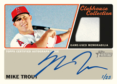2015 Heritage Clubhouse Collection Mike Trout auto
