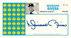 Mariano Rivera Topps Heritage Punch Out