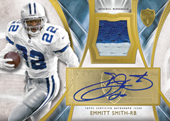 2014 Topps Supreme autographed Emmitt Smith patch card