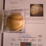 Autographed Babe Ruth baseball John Lackey Pat Neshek