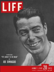 1949 Joe DiMaggio Life magazine cover