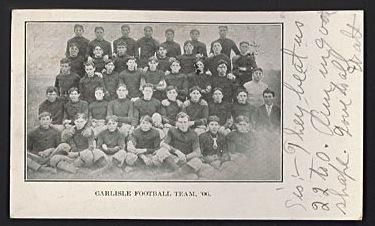 Early 1900s Carlisle Football team postcard