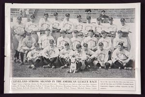 1913 Fatima Advertising Poster of the Cleveland Indians