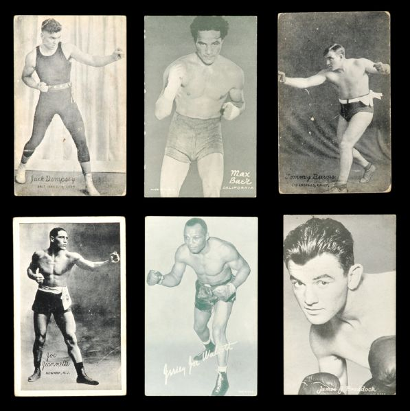 1920s-30s Boxing Exhibit cards