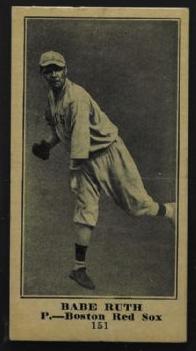 1915 Babe Ruth Sporting News baseball card