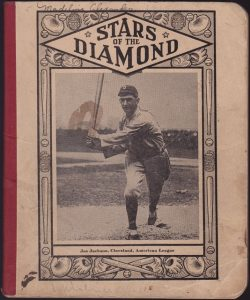 1915 notebook cover with a photoengraving picture of Joe Jackson