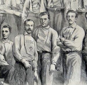Detail of an 1866 Harper's wood-engraving showing how they are made up of fine lines and often resemble a pen and ink sketch