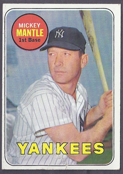 Mickey Mantle 1969 Topps