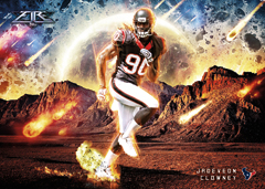 2014 Topps Fire Out of This World Clowney insert