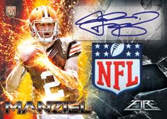 2014 Topps Fire Johnny Manziel shield autograph