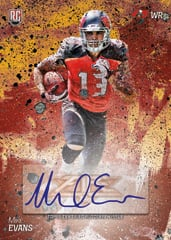 Mike Evans auto rookie 2014 Topps Fire