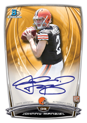 Johnny Manziel rookie card 2014 Bowman Chrome football