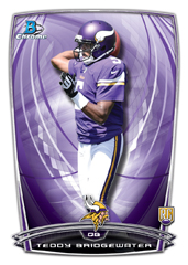 Teddy Bridgewater 2014 Bowman Chrome rookie