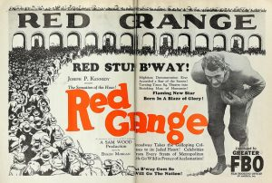 Relief printing: Ad for 1926 Red Grange football movie