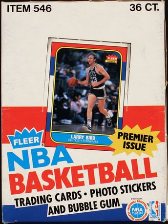 Fleer 1986-87 Basketball box
