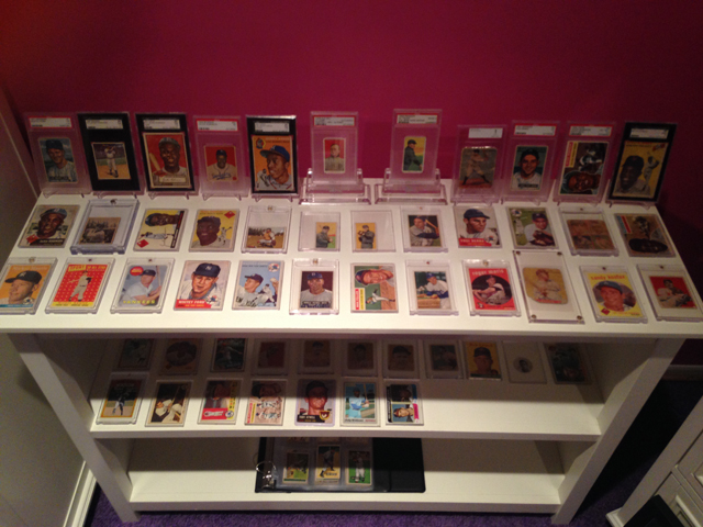 Marissa's collection of vintage cards with her new Ty Cobb featured prominently.